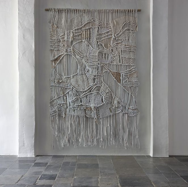 vintage modern macrame weaving