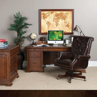Handsome Executive Desk And Leather Chair For Your Home Office Dallas Weirs