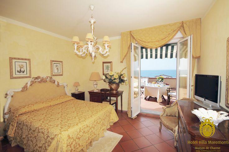 #hotel #villamaremonti #room with #balcony and #seaview #fortedeimarmi #tuscany #italy #summer