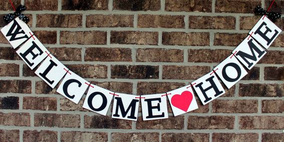 Welcome Home Banner by BannerSpecialties on Etsy, $20.00