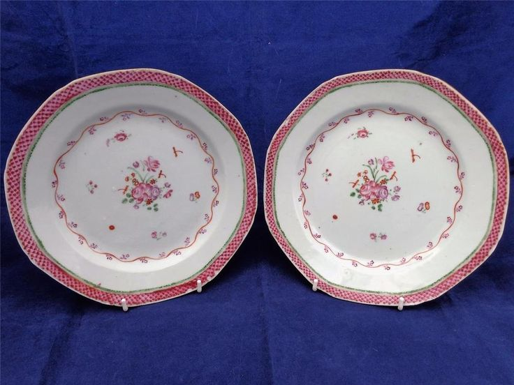 Details about Pair Antique HP Chinese Porcelain Famille Rose Plates Qianlong 乾隆\u2026 & 183 best Antique Plates and Platters images on Pinterest
