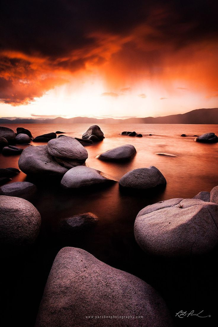 Lake Tahoe Sunset through the rain by Rick Parchen on 500px – #500px #Lake #PÄR…