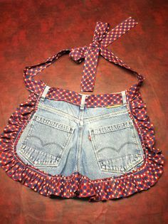 Upcycled Jean HalfAprons by Proverbs31Place on Etsy, $25.00