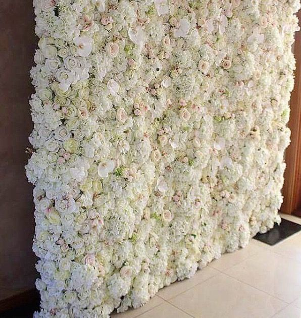 One of our latest gorgeous, easy to put reusable silk flower walls. Up in 20 mins, a perfect floral backdrop for the DIY bride