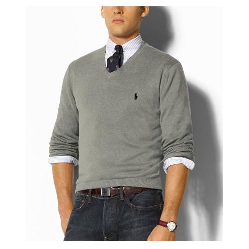 Ralph Lauren Men's Cashmere Sweater in Grey