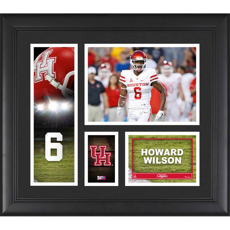 """Howard Wilson Houston Cougars Fanatics Authentic Framed 15"""" x 17"""" Player Collage"""
