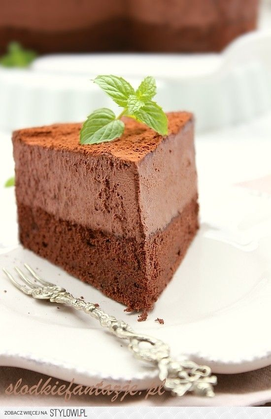 ciasto czekoladowe z musem Biszkopt czekoladowy: 6 ja… na Stylowi.pl