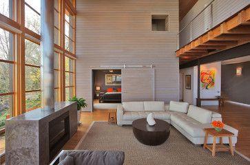 bay house - modern - living room - dc metro - Gardner Mohr Architects LLC