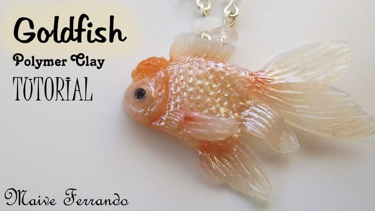 Polymer Clay Red Cap Oranda Goldfish Tutorial | Maive Ferrando