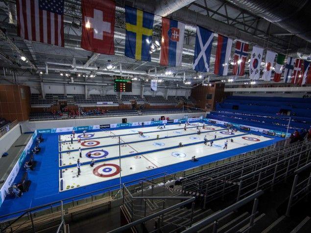The Sochi Olympic curling venue.