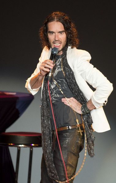 Russell Brand Russell Brand performs live on stage during his 'Messiah Complex' tour at Jahrhunderthalle on February 9, 2014 in Frankfurt am...