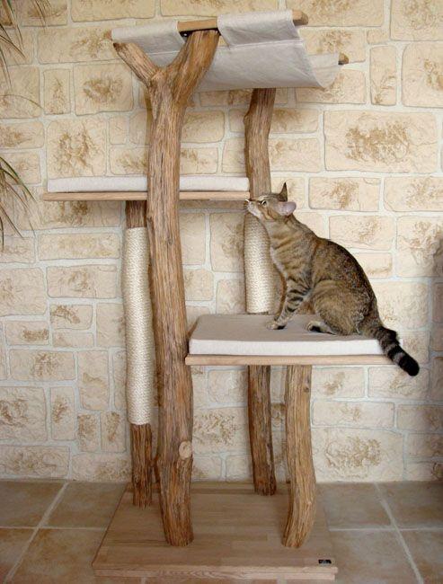 arbre chat v base haute coloris noyer h 103 cm. Black Bedroom Furniture Sets. Home Design Ideas