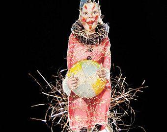 clown Victoriaanse stijl sieraad, Victoriaanse kerst ornament, sieraad, Victoriaanse ornament, clown Kerst ornamenten - SPEELSE CLOWN