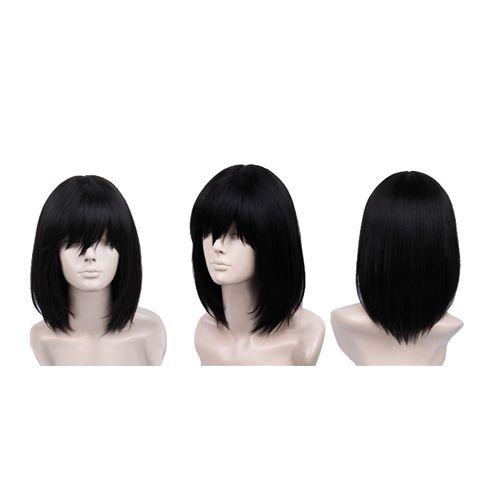 Touhou Project Shameimaru Aya Medium Length Black Cosplay Wig Short Long Bob Synthetic Wig Discount Synthetic Wig US $10.99
