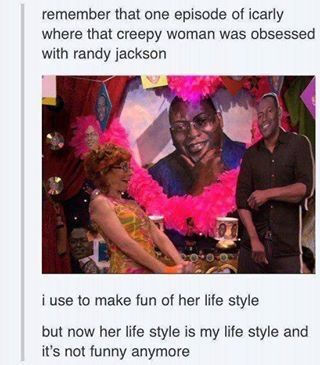 Replace Randy Jackson with Black Veil Brides or just Ashley Purdy and this would totally be me.