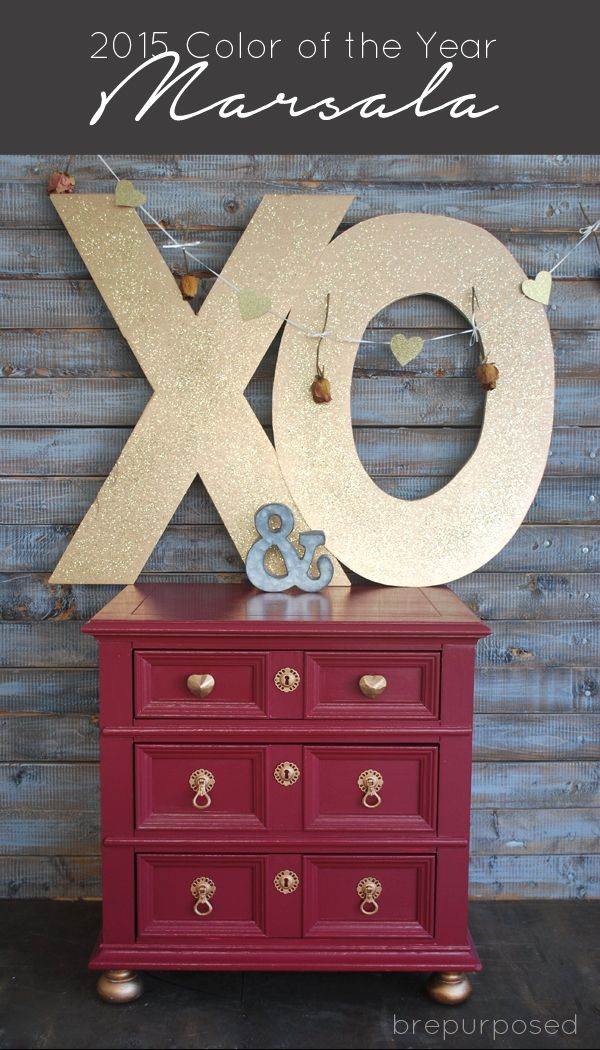 Marsala makeover 10 days of valentines small dresser for Furniture 6 letters