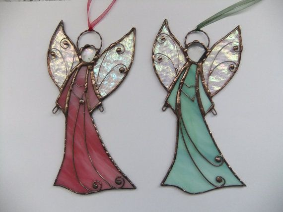 Stained glass Angel. Hanging suncatcher. Christmas by mamichka