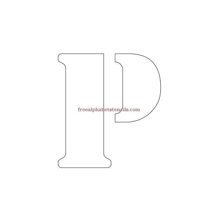 Uppercase Alphabet Stencil P