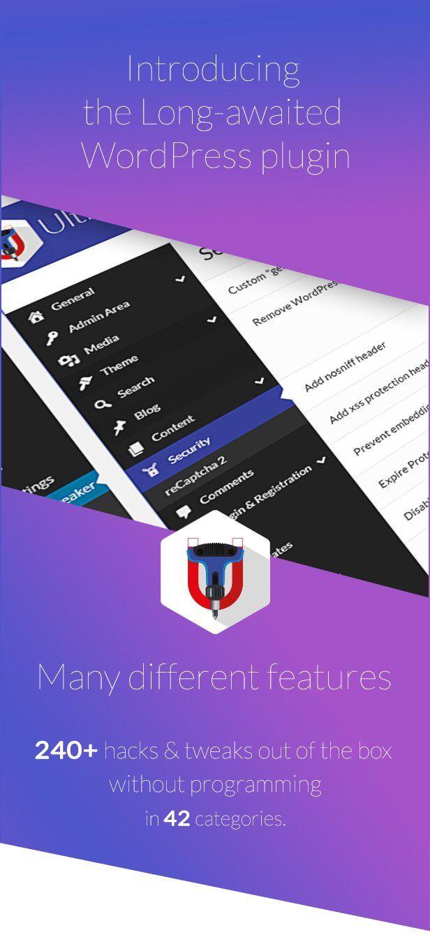 Ultimate Tweaker for #WordPress | #hacks #tools