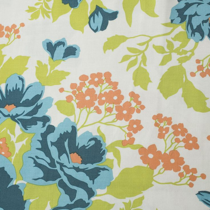 Joel Dewberry Flora, Rayon Challis, viscose fabric rayon dressmaking fabric