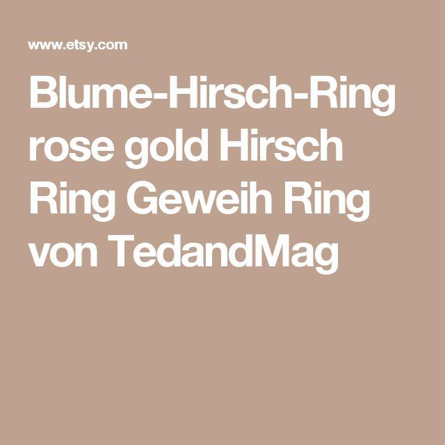 Blume-Hirsch-Ring rose gold Hirsch Ring Geweih Ring von TedandMag