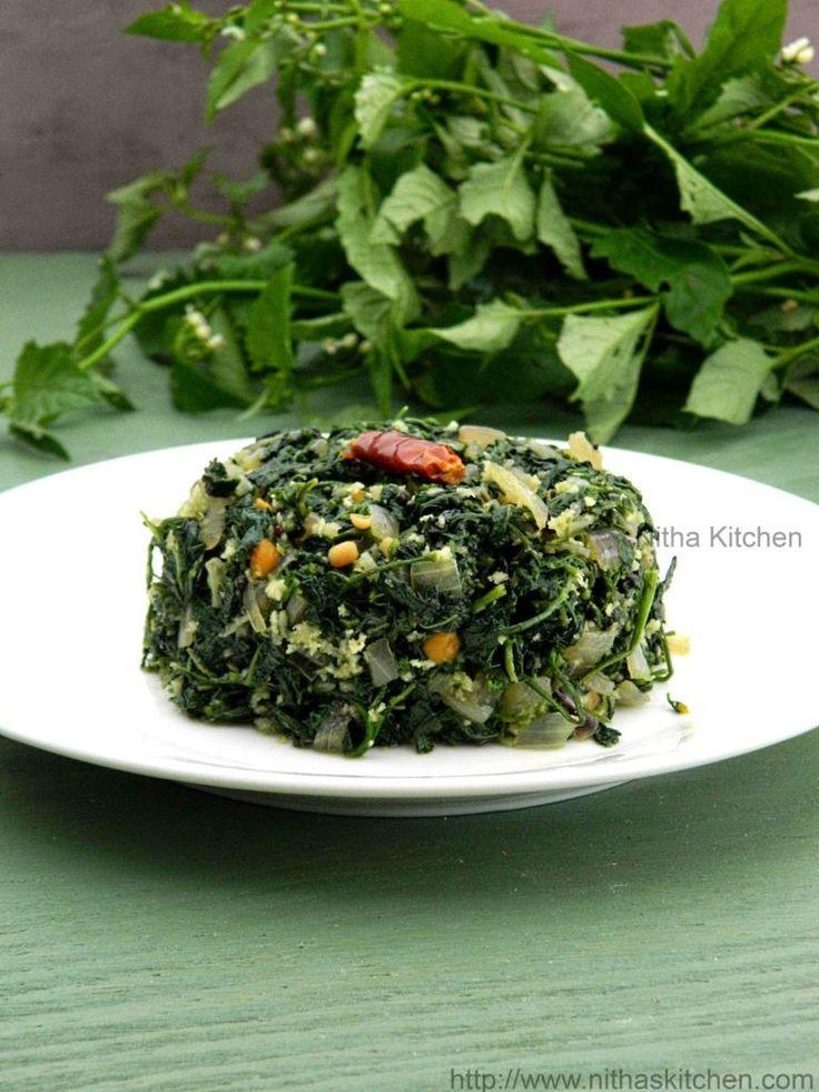 Manathakali Keerai Poriyal Greens, Healthy recipes, Stir fry