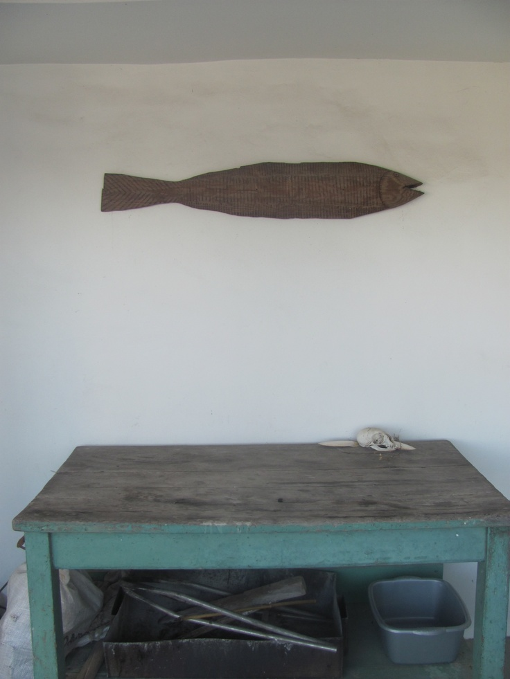 rustic fish and simple table