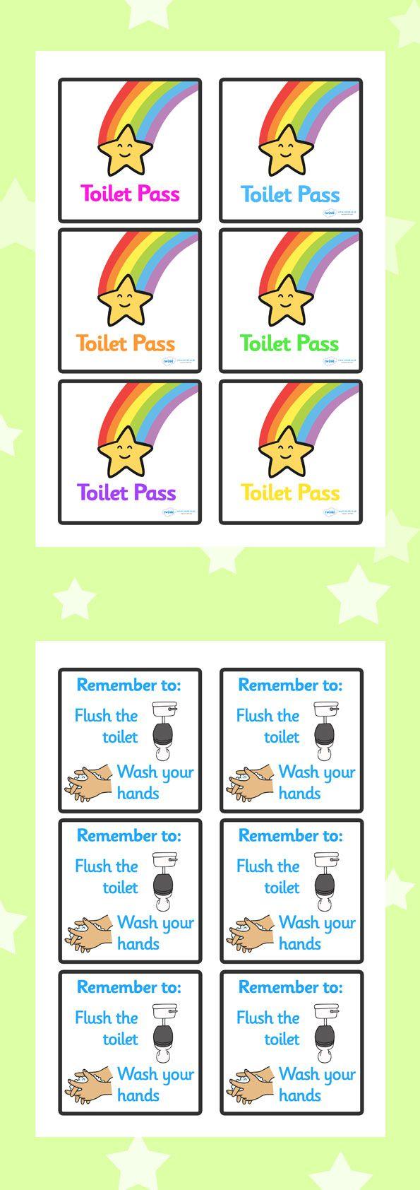 Toilet Passes Classroom Behavior Management Classroom