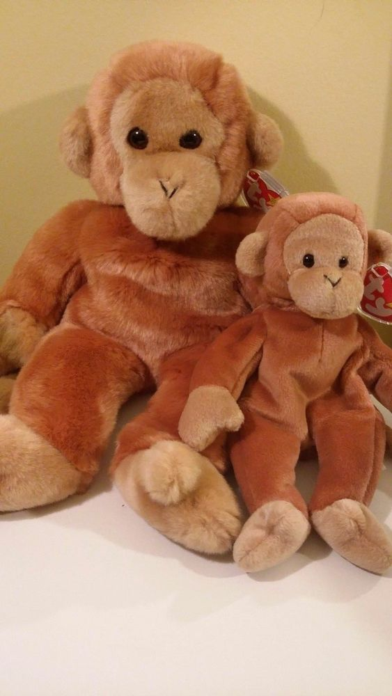 Bono the Monkey Beanie Baby and Beanie Buddy  #Ty