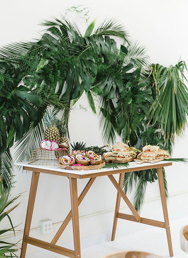 Papaya & Palm Leaves Tropical Baby Shower | Leaves, Babies ...