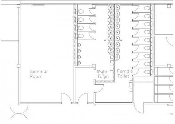 public toilet plan layout
