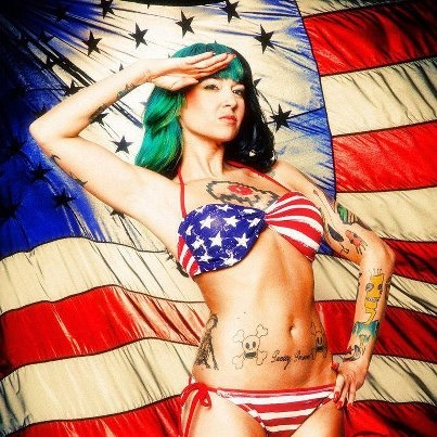 Happy 4th everyone!: Tattooed Girls, Suicide Girls, Tattoo Inspiration, Pin Up Art, Tattoo Art, Red White, Happy 4Th, White Blue, Ink