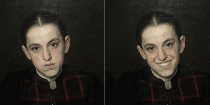 A guy uses FaceApp to cheers up sad paintings at Dutch museum