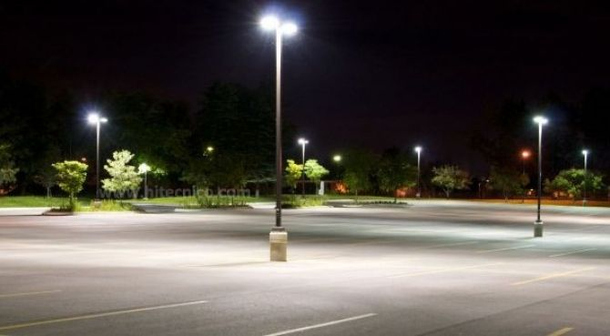 HITECNICO 120W LED streetlights successful project to replace 250W metal halide for parking lot lighting in Mexico.
