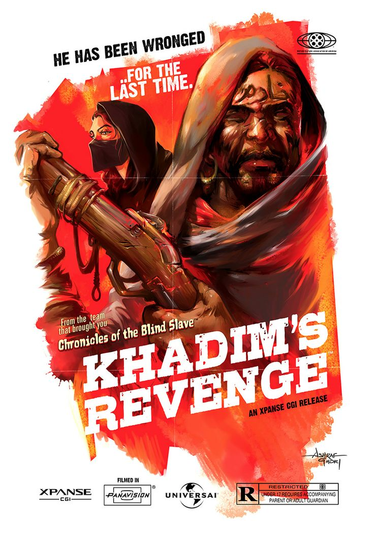 'Khadim's Revenge' #Grindhouse movie poster for #DarkHorse Comics.