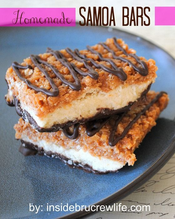 Enjoy girl scout cookies all year long with this homemade bar cookie!
