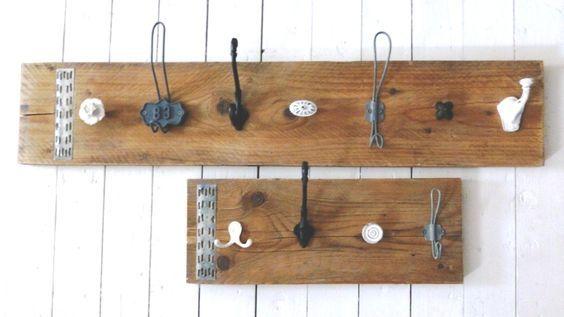 Stoer zo'n steiger of sloophouten plank met verschillende knoppen en haken!