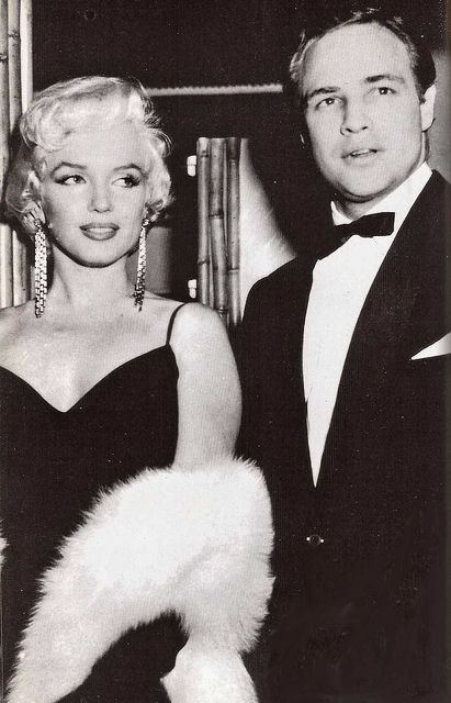 *Marilyn Monroe & Marlon Brando    According to Brando, he and Marilyn had an affair in the early 1950s and remained good friends until her untimely death in 1962.