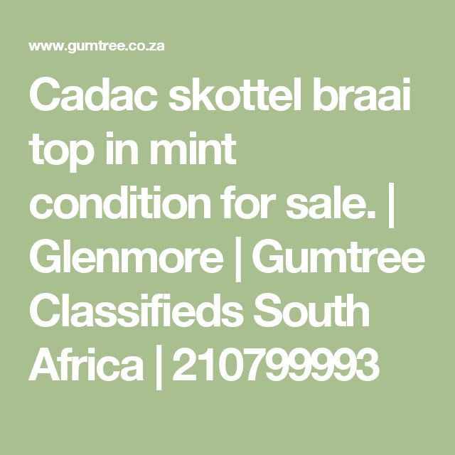 Cadac skottel braai top in mint condition for sale. | Glenmore | Gumtree Classifieds South Africa | 210799993