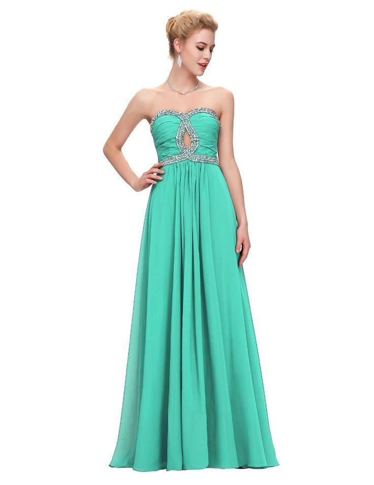 Long Elegant Evening Dress Women Formal Dress Abendkleider Lang Green Royal Blue