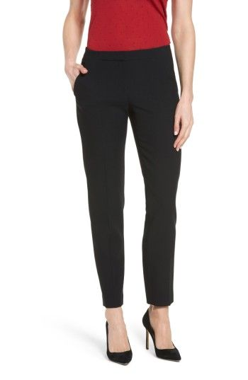 Free shipping and returns on BOSS Tilunisa Slim Pants at Nordstrom.com. Pintucked creases give a neat look to wardrobe-staple pants tailored for a slim (but not snug) fit in a soft, wool-infused fabric woven with double-stretch comfort.