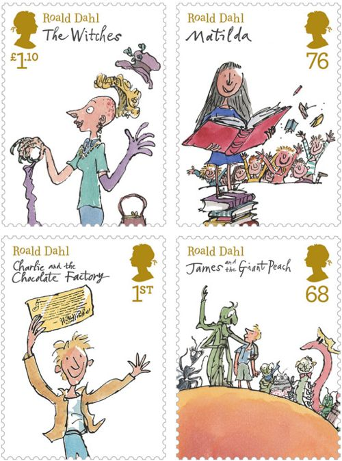 Roald Dahl Stamps. Wish these were in the US!