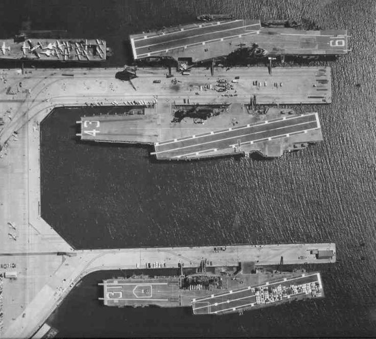 two essex class aircraft carriers  uss bon homme richard