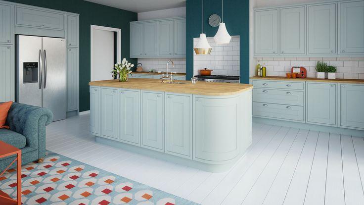 kitchen, blue kitchen, kitchen inspiration, interior trend, magnet, blue, designing a kitchen