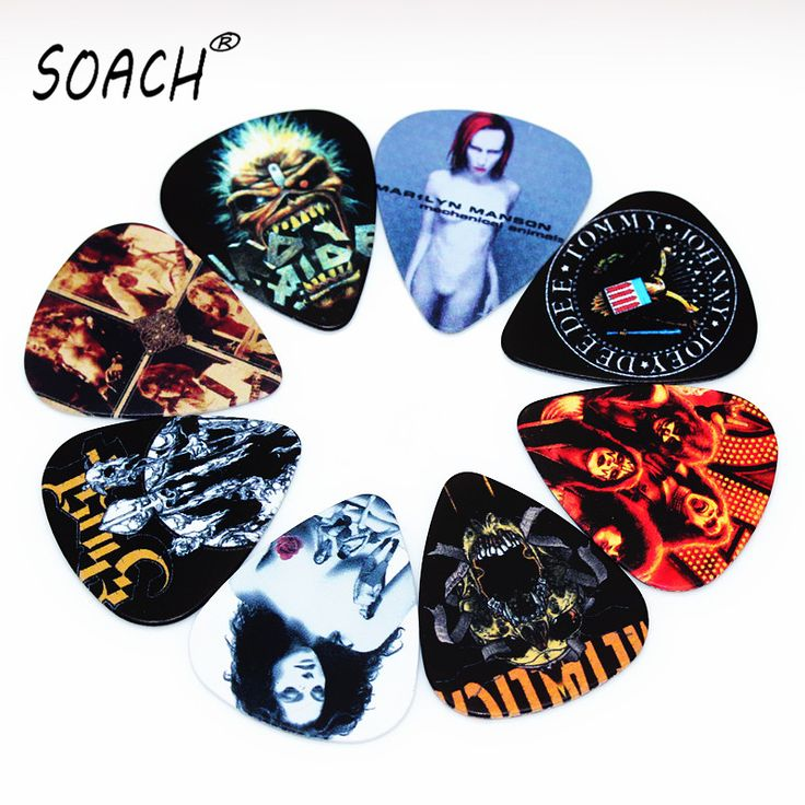 SOACH 10pcs Newest  Custom-made band Guitar Picks Thickness 1.0mm  Guitar Accessories