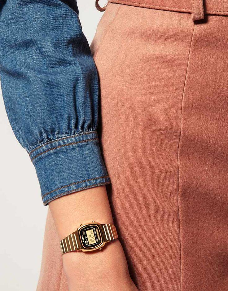 Image 2 ofCasio Black & Gold Mini Digital Watch LA670WEGA-1EF
