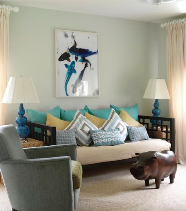 Awesome Living Room Design to Your House: Brilliant Living Room Decoration With Funky Style
