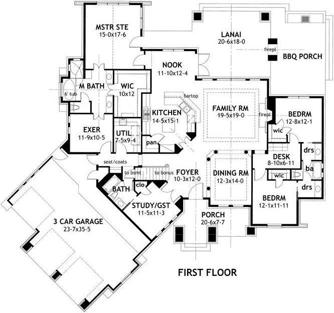 craftsman style house plans 2847 square foot home 1 story 4 bedroom and