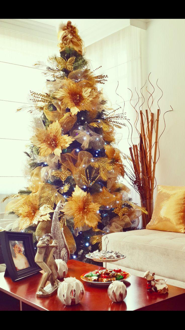 Árbol navideño dorado 2014