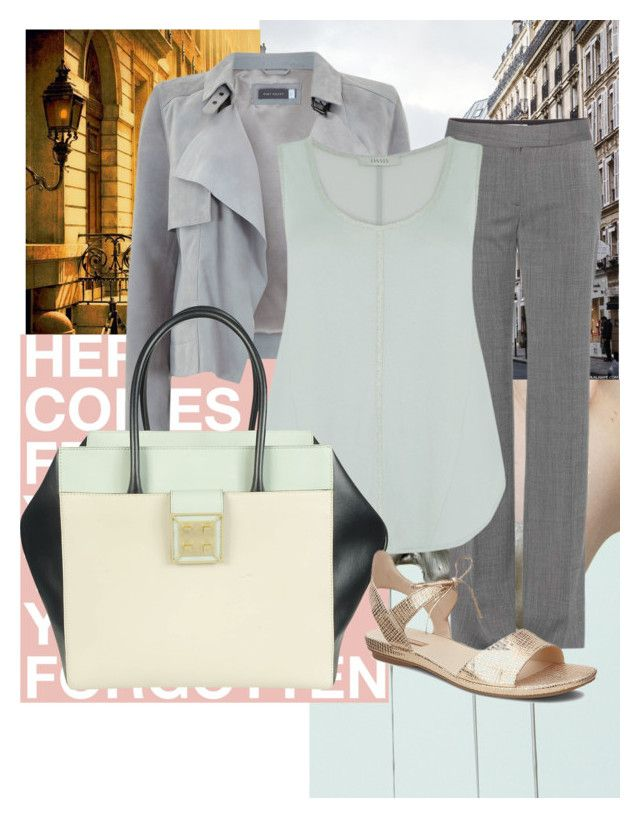 """""""Grey"""" by samanthawagley on Polyvore featuring STELLA McCARTNEY, Mint Velvet, Oasis, Manurina and ECCO"""